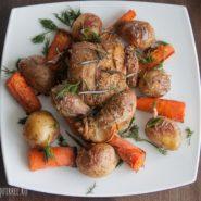 Курица запеченная с картошкой и морковью