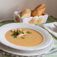 Крем суп из семги со сливками