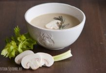 Mushroom cream soup with chicken, recipe and photo from potionsquirrel.ru