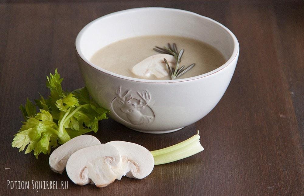 Грибной крем-суп с курицей, рецепт и фото от potionsquirrel.ru
