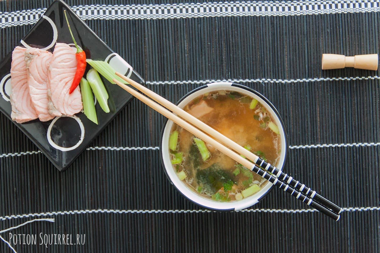мисо суп рецепт с лососем и тофу