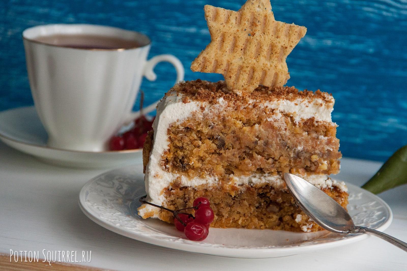 Морковный торт к чаю. Пошаговый рецепт с фото от potionsquirrel.ru