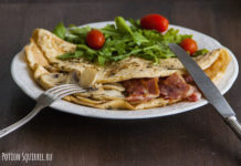 Excellent breakfast from an omelette with mushrooms and bacon from potionsquirrel.ru