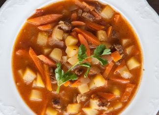 Hungarian goulash soup. Photos, ingredients and a step-by-step recipe from potionsquirrel.ru