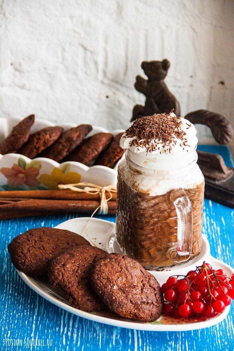Шоколадное печенье с шоколадными кусочками от potionsquirrel.ru