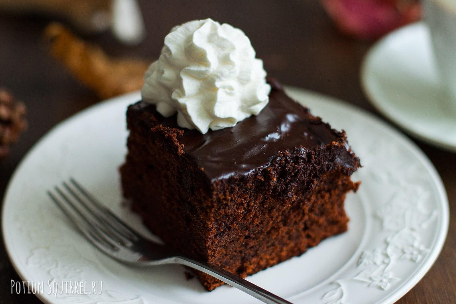 Шоколадный пирог, рецепт с апельсином и жидким медом просто невероятен! Приготовлено с любовью, фото и рецепт от potionsquirrel.ru