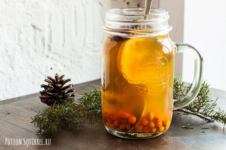 Облепиховый чай - это отличная поддержка иммунитета весной! Рецепт и фото от potiosquirrel.ru
