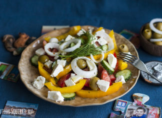 A simple and delicious Greek salad with a recipe from potionsquirrel.ru
