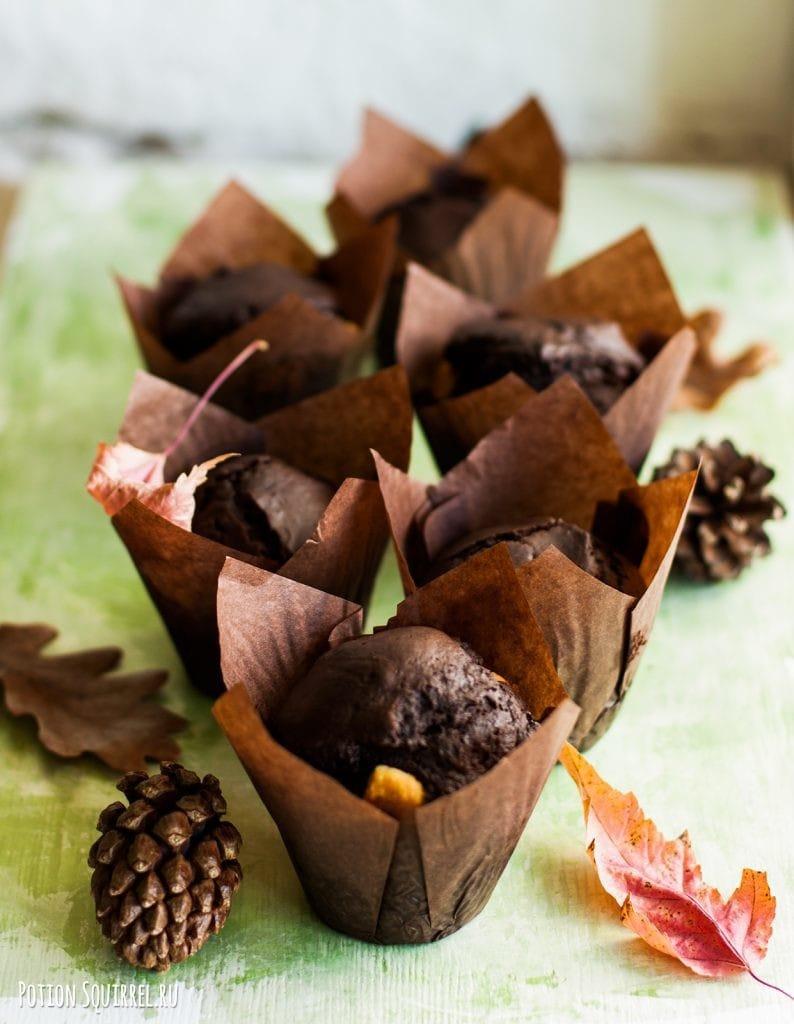 Рецепт шоколадных маффинов с насыщенным вкусом и ароматом от potionsquirrel.ru