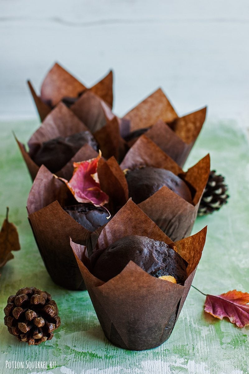Лучший рецепт шоколадных маффинов от potionsquirrel.ru