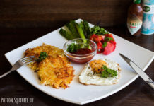 A simple and delicious hashbrawn recipe with scrambled eggs from potionsquirrel.ru