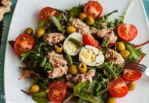 A nutritious and healthy salad of Napois from the south of France, a recipe and a photo from potionsquirrel.ru