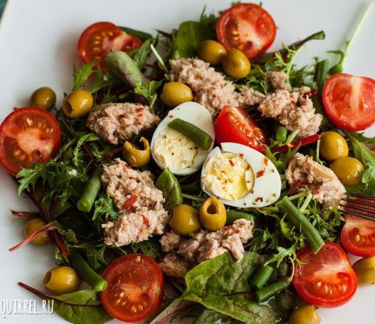 Питательный и полезный салат Нисуаз с юга Франции рецепт и фото от potionsquirrel.ru