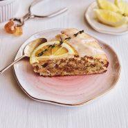 Постный лимонный пирог с тимьяном