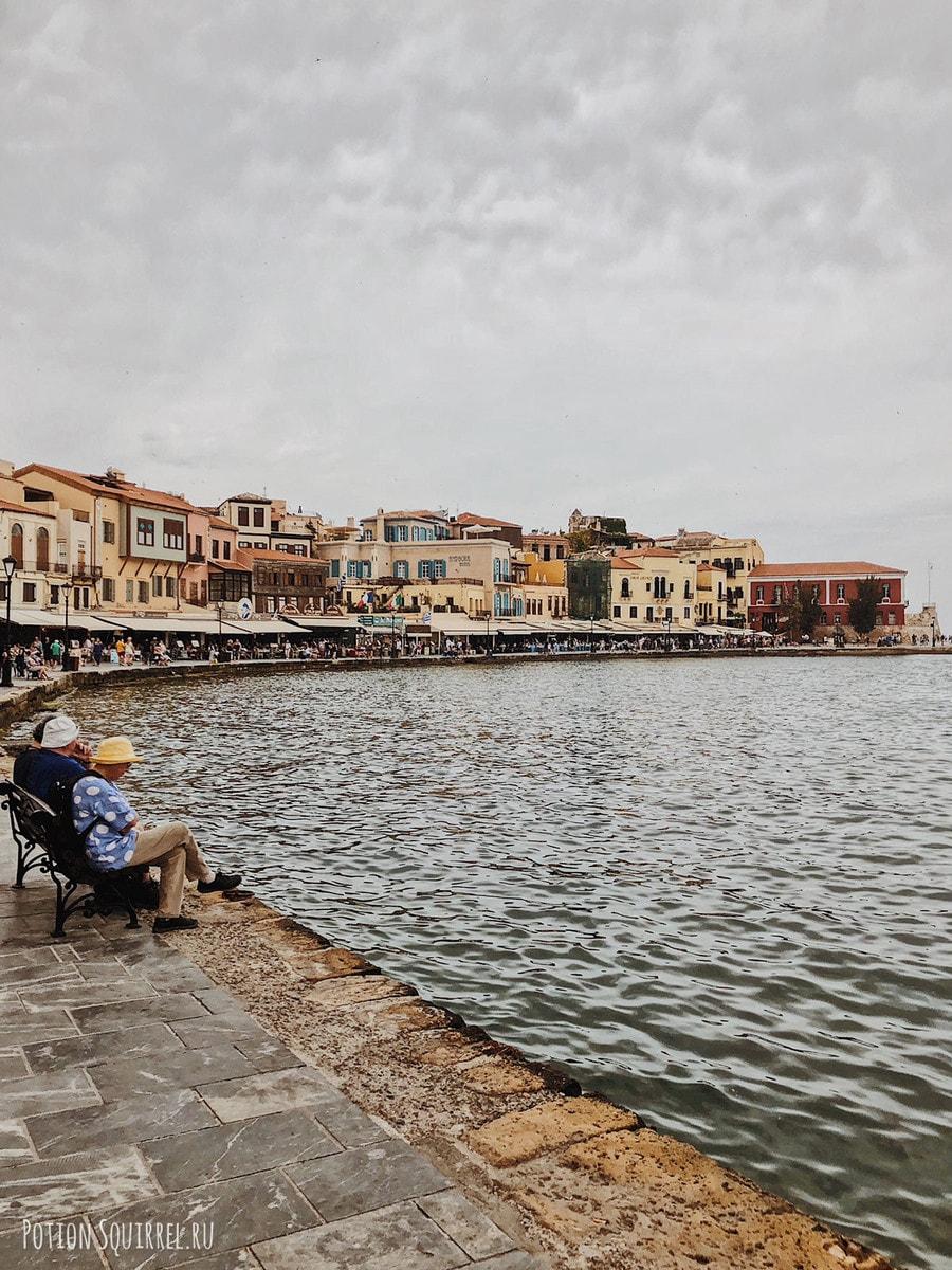 Набережная Ханьи, венецианские особняки