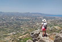 Гора Юхта, Крит. Вид на долину