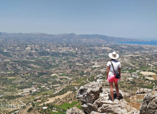Mountain Yukhta, Crete. View of the valley