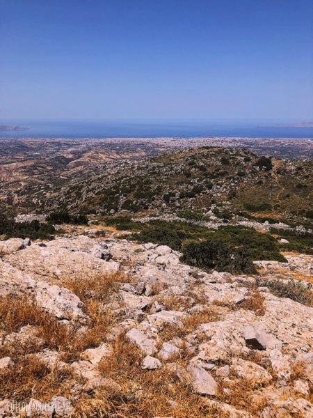 Вид с горы Юхта, северный Крит