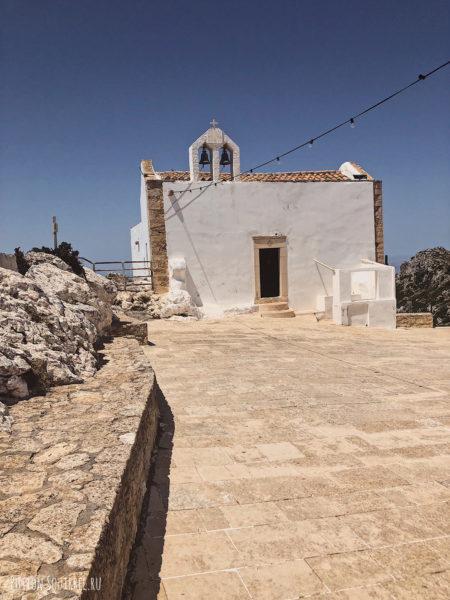 Гора Юхта, Крит. Храм Христа