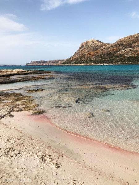 Знаменитый пляж с розовым песком Балос. Рассказывает potionsquirrel.ru