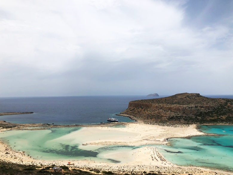 Вид сверху на Балос, Крит. Рассказывает potionsquirrel.ru