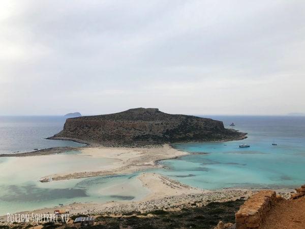 Вид сверху на пляж Балос, Крит. Рассказывает potionsquirrel.ru