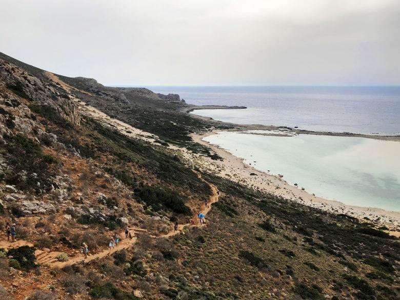 Дорога к пляжу Балос, Крит. Рассказывает potionsquirrel.ru