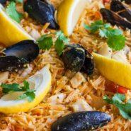 Фидеуа с морепродуктами