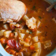 Нетипичный рыбный суп