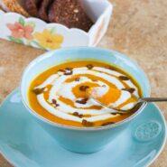 Морковный крем-суп с апельсином и шафраном